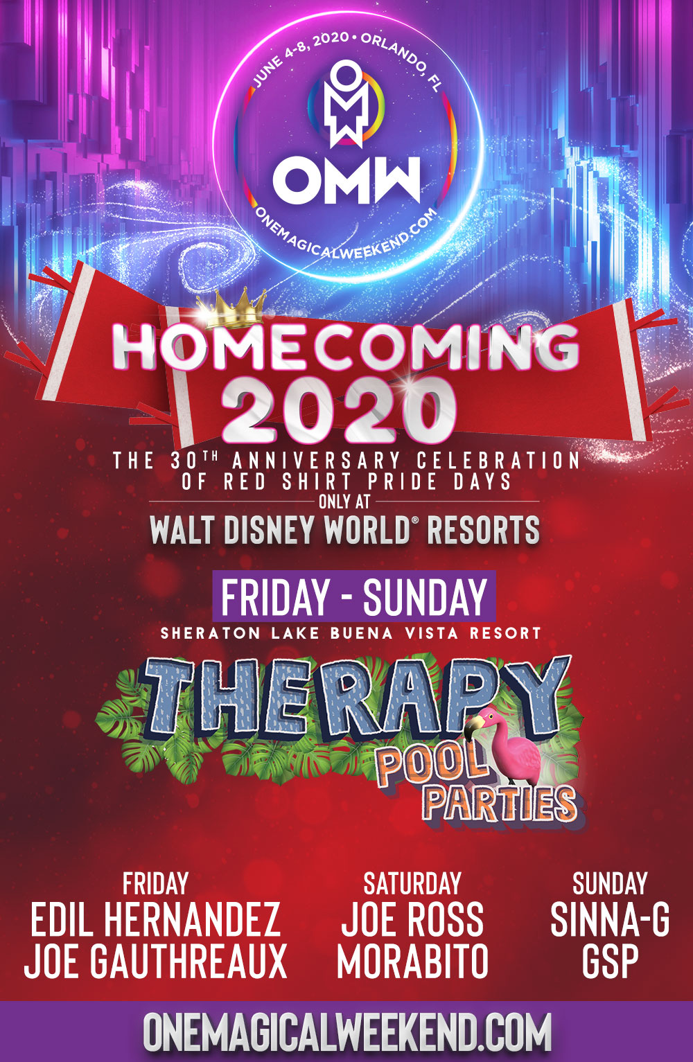 Best Dj Pool 2020 THERAPY POOL PARTIES at Sheraton Lake Buena Vista   One Magical