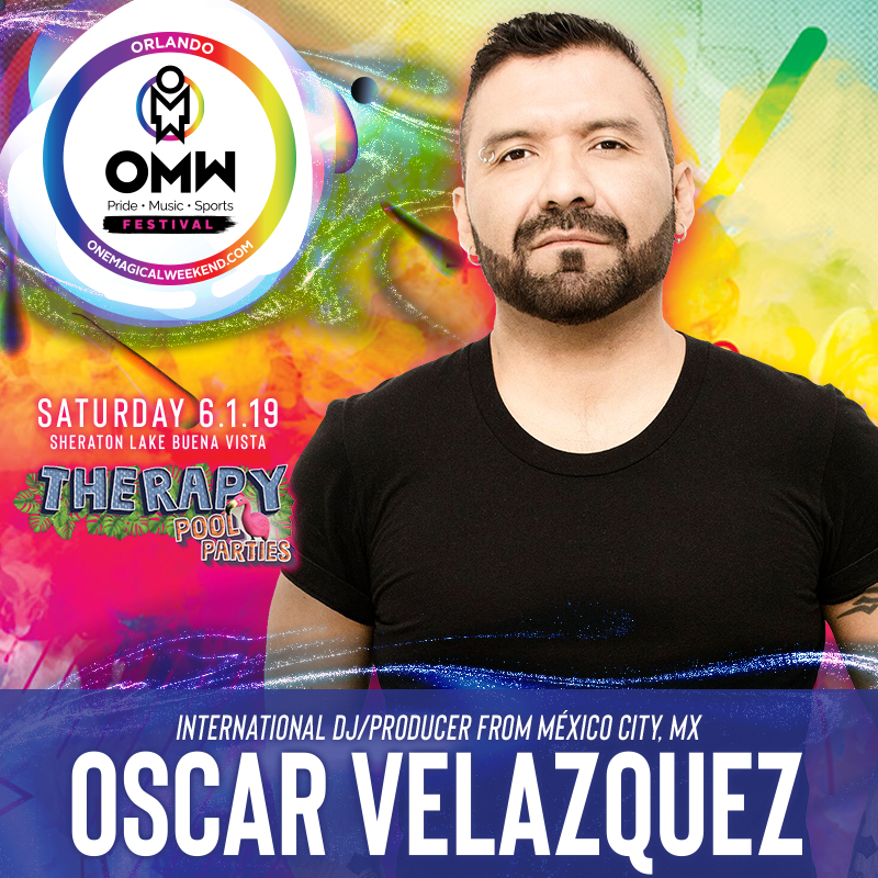 DJ Oscar Velazquez @ Therapy Pool Party 6 1 19 - One Magical Weekend